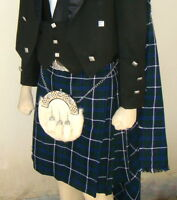 Scottish | Douglas Tartan Heavy Kilt & Kilt Pin | Geoffrey