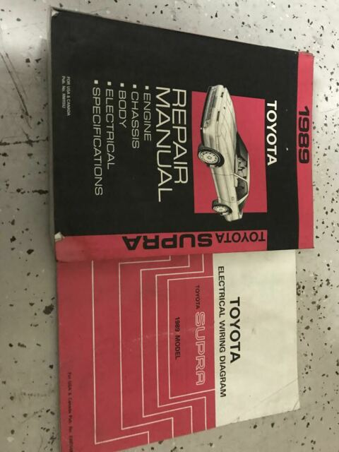 1989 Toyota Supra Service Shop Repair Workshop Manual Set