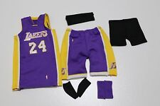 Custom 1/6 kobe bryant lakers jersey 24 NBA TOYs home away purple fit enterbay