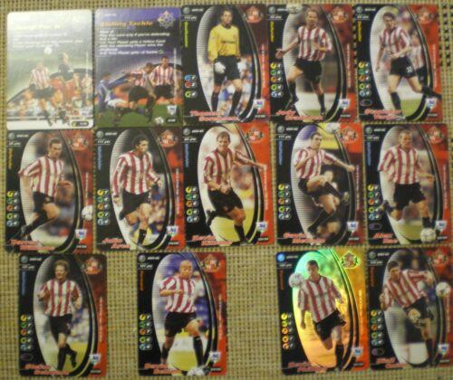 Sunderland Tarjetas De Fútbol Fútbol mago de la costa campeones de 2001-02 X 14