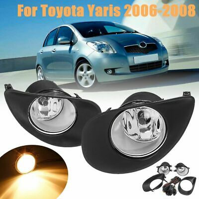 Pair of Fog Lamp Light Covers Right /& Left for Toyota Yaris Hatchback 2006-2010