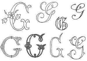 lettre g BRODERIE ANCIENNE Lettre G, 57 modèles, tous en photos dans l  lettre g