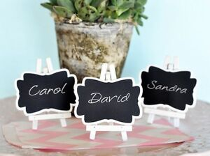Image Is Loading Set Of 3 Chalkboard Easel Wedding Place Card
