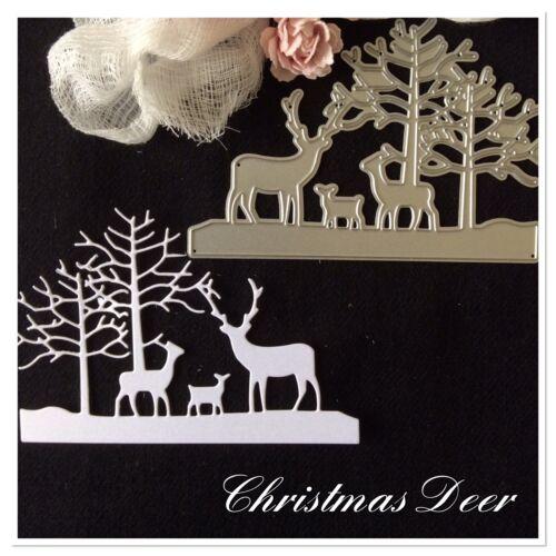 Metal Die Deer Scene size 12 x 8 cm Christmas