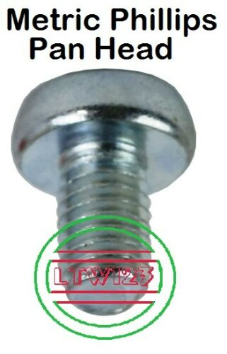 20 M5-0.8x16mm Metric Phillips Pan Head Machine Screw Zinc
