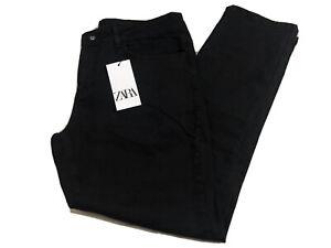 Zara Man Negro Para Hombre Nuevo Con Etiquetas 33x32 Mediados De Subida De Lycra Elastico Jeans Pantalones N69 Ebay