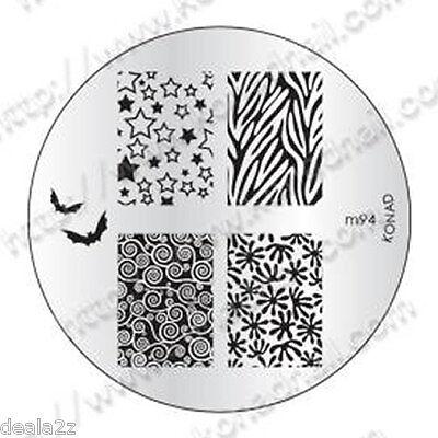 m94 -  IMAGE PLATE Konad Stamping Nail Art Design Nail Template  USA SELLER