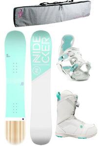 Flow Nidecker Elle 143cm Womens Snowboard Package+Muon Bindings