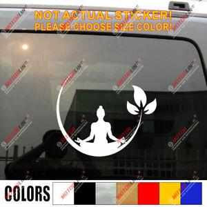 Yoga Meditation Decal Sticker Car Vinyl Buddhism Zen Buddha Lotus India b