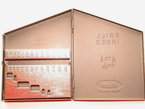 313-Jobber-Drill-Metal-Index-Case-Holds-1-16-034-to-1-4-034-x-64ths-USA-Huot-12750-DD