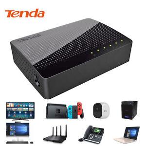 10-100-1000-Mbit-s-5-Port-Fast-Ethernet-LAN-Ordinateur-de-bureau-RJ45-commutateur-reseau-Hub