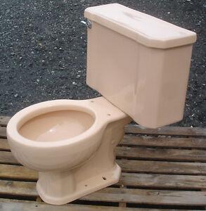 Vintage 1960 Peach Salmon Kohler Toilet Complete Ebay