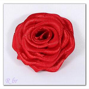 Exklusive-Rose-Blume-Rosenkoepfe-Gross-vieleFarben-Aplikationen-handgemacht-4-5cm