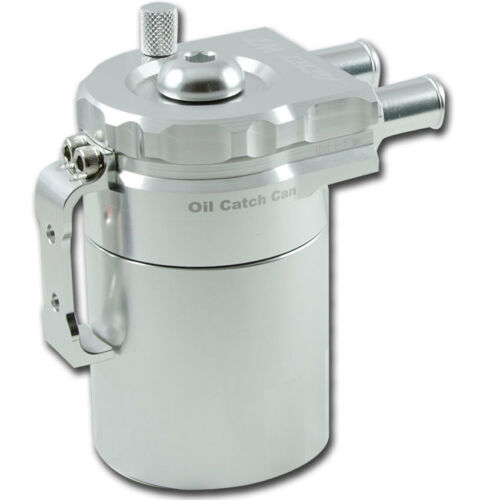 ADD W1 Baffled Universal Aluminum Oil Catch can Reservoir Tank Ver.2 Silver