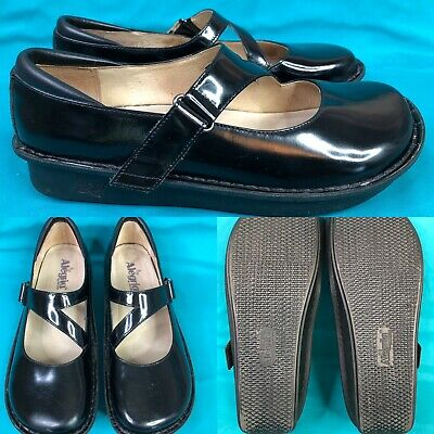 Clothing, Shoes & Accessories Comfort Shoes Womens Alegria 'jill' Black Patent Leather Mary Janes Shoes Size 40 Us 9.5-10 In Pain