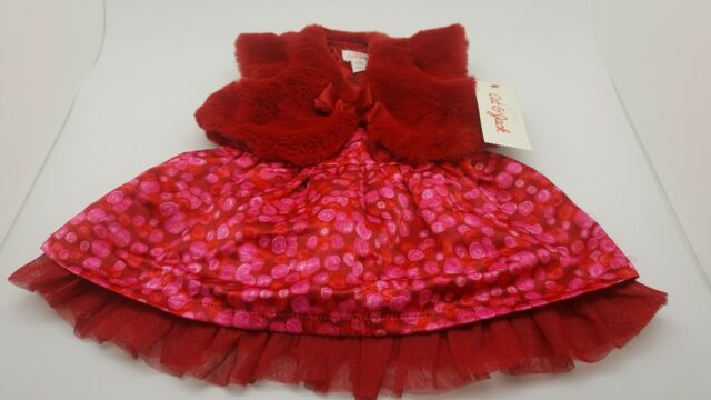 35fa3eab55aa Baby Cat And Jack Red Velvet Dress size 3-6 months