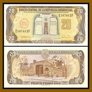 Dominican Republic 20 Pesos Oro 1990 P-133 Unc