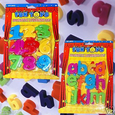 Frigo Calamita Magnetica Alfabeto Lettera Numero Kids Apprendimento Divertente Giocattolo Colorato Set-mostra Il Titolo Originale