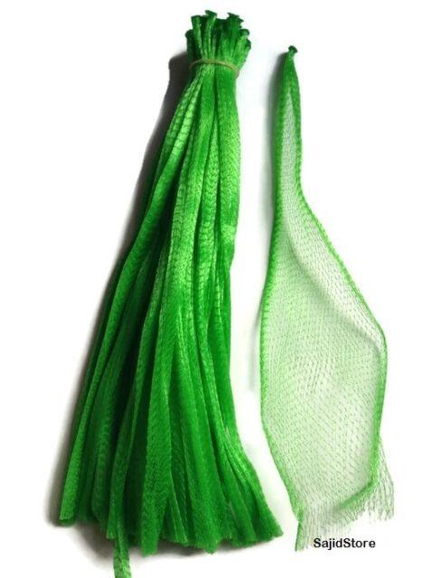 "15"" Green 50 Reusable Nylon poly Mesh Produce Grocery Fruit Vegetable net bags"