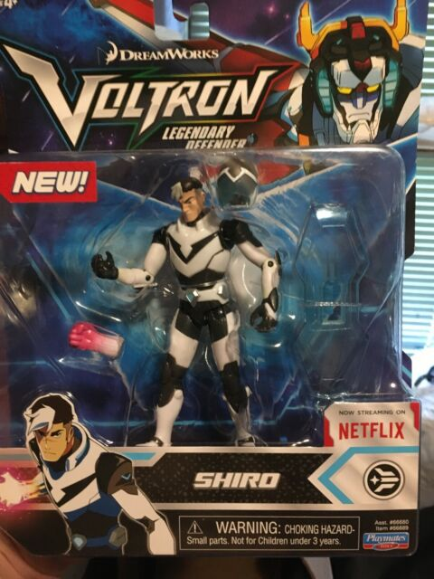Voltron Shiro figure with sheild helmet glove playmates toys fatory sealed 2017