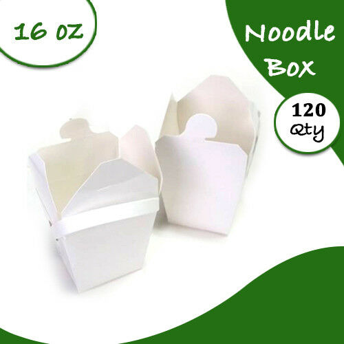 Bulk Packs 120 x 455ML16oz White Noodle Box With Handle PartySydney Only