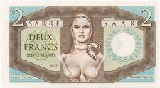 SARRE / SAAR - Billet de 2 FRANCS - 2015 - TEST NOTE - ESSAI - NEUF - TOP !!!