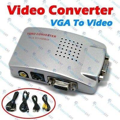 MD09* ADATTATORE CONVERTITORE DA PC COMPUTER NOTEBOOK A TV DA VGA A RCA SCART