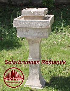 solarbrunnen romantik solarspringbrunnen garten brunnen solar brunnen video hier ebay. Black Bedroom Furniture Sets. Home Design Ideas