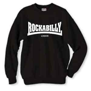 """"""" Rockabilly Logo Sweatshirt Rock N Roll, Alle Farben Rohstoffe Sind Ohne EinschräNkung VerfüGbar"""