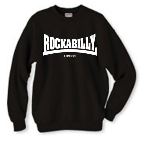 "/""rockabilly logo/"" sweat-shirt rock /'n/' roll toutes tailles et couleurs"