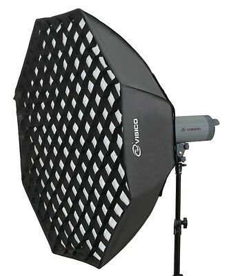 Octagonal Softbox 120cm Soft Box & Honeycomb Grid for Bowens Flash Strobe NEW