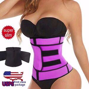 Women-Fajas-Sweat-Body-Shaper-Waist-Trainer-Cincher-Corset-Slim-Belts-Shapewear