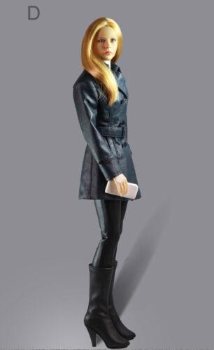 """1//6 femmes en cuir Trench Coat Set D pour 12/"""" Phicen TBLeague Hot Toys femelle USA"""