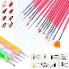 20x Acrylic Nail ART BRUSHES Kit Painting Dotting Pen Set Design Drawing Hot ZD