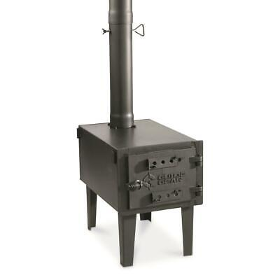 Outdoor Wood Stove Cast Iron Portable Camping With Pipe