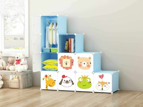 10 Cube DIY Closet Wardrobe Modular Storage Clothes Shoe Kids Furniture 2020