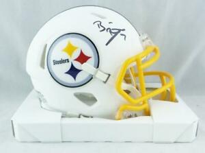 Ben-Roethlisberger-Signed-Pitt-Steelers-Flat-White-Mini-Helmet-Fanatics-Auth