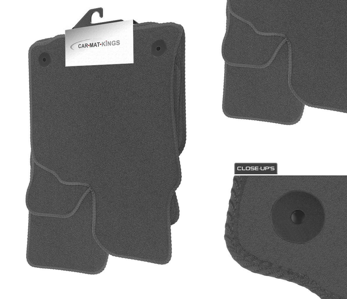 Peugeot Partner Combi (2001-2010) Grey Velour Tufted Tailor Fitted Car Mats