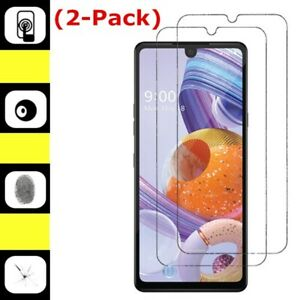 2-Pack For LG Stylo 6 Tempered Glass Premium Real Anti-Scratch Screen Protector