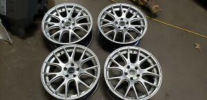 USED-Bremmer-Kraft-BR09-Hyper-Silver-BBS-Style-RE1282-Aftermarket-Wheels