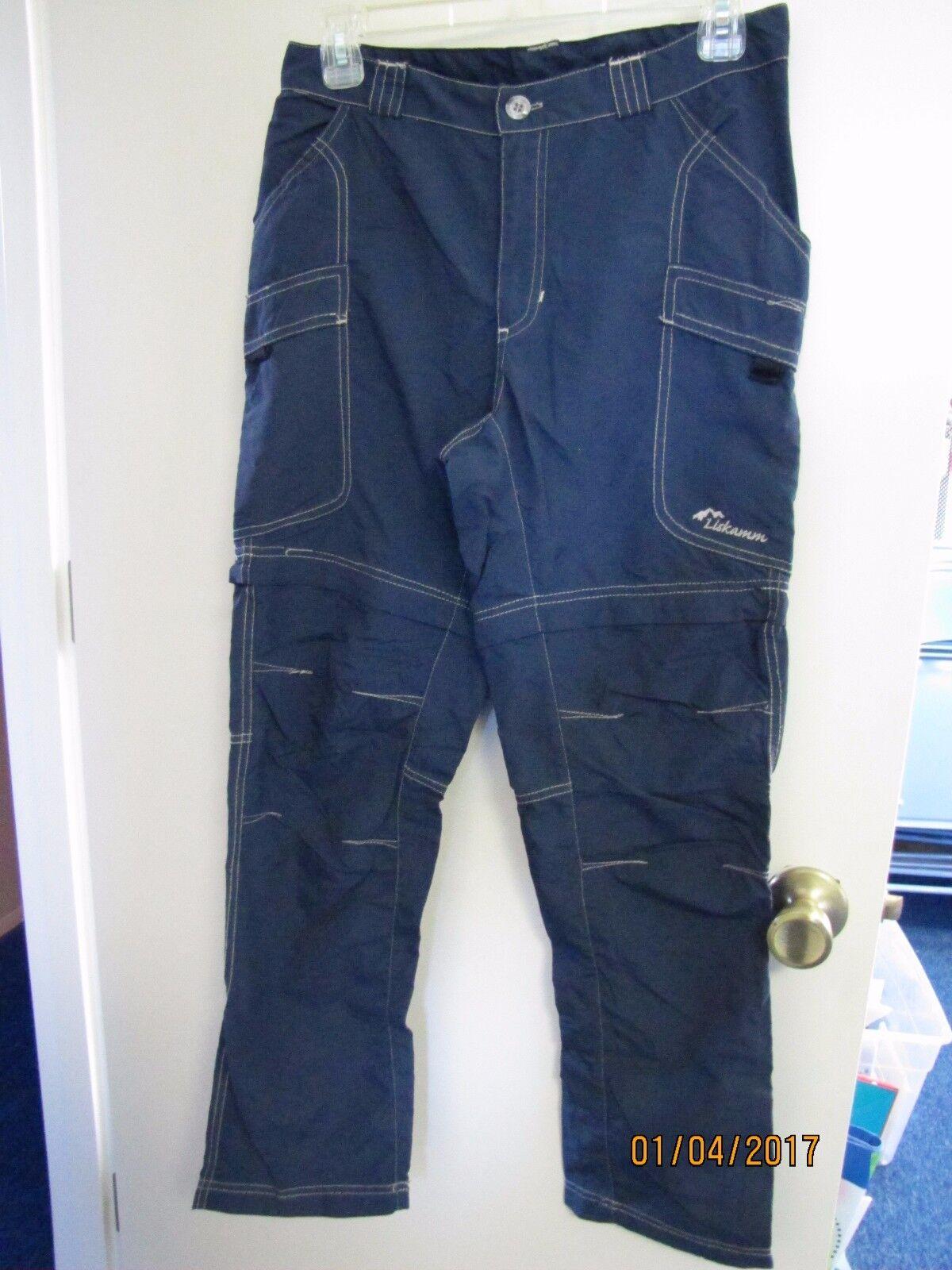 EUC Liskamm Ladies bluee Congreenible Pants Nylon Zipper Shorts Outdoor Hiking M