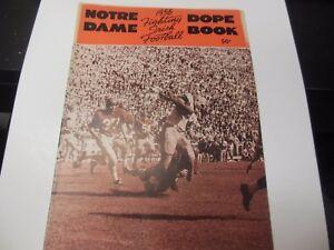 1956 NOTRE DAME IRISH NCAA FOOTBALL DOPE BOOK REVIEW MAGAZINE RARE