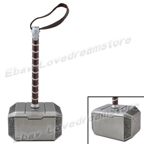 "Cool ! Super Hero THOR METAL HAMMER 20cm/8"" Cosplay Costume Accessories No Box"