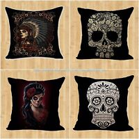 Us Seller- Wholesale 4pcs Sugar Skull Day Of The Dead Replacement Cushion Cover