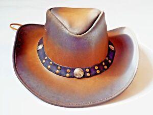 Cuero-sombreros-Vaqueros-Estilo Occidental-Bush-sombreros-Calidad Superior