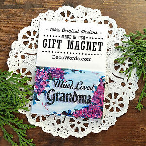 Much-Loved-GRANDMA-Gift-MAGNET-by-Decorative-Greetings-Made-in-USA-New-in-Pkg