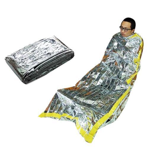 Outdoor Emergency Survival Kit Rescue Thermal Space Sleeping Bag Blanket Tools