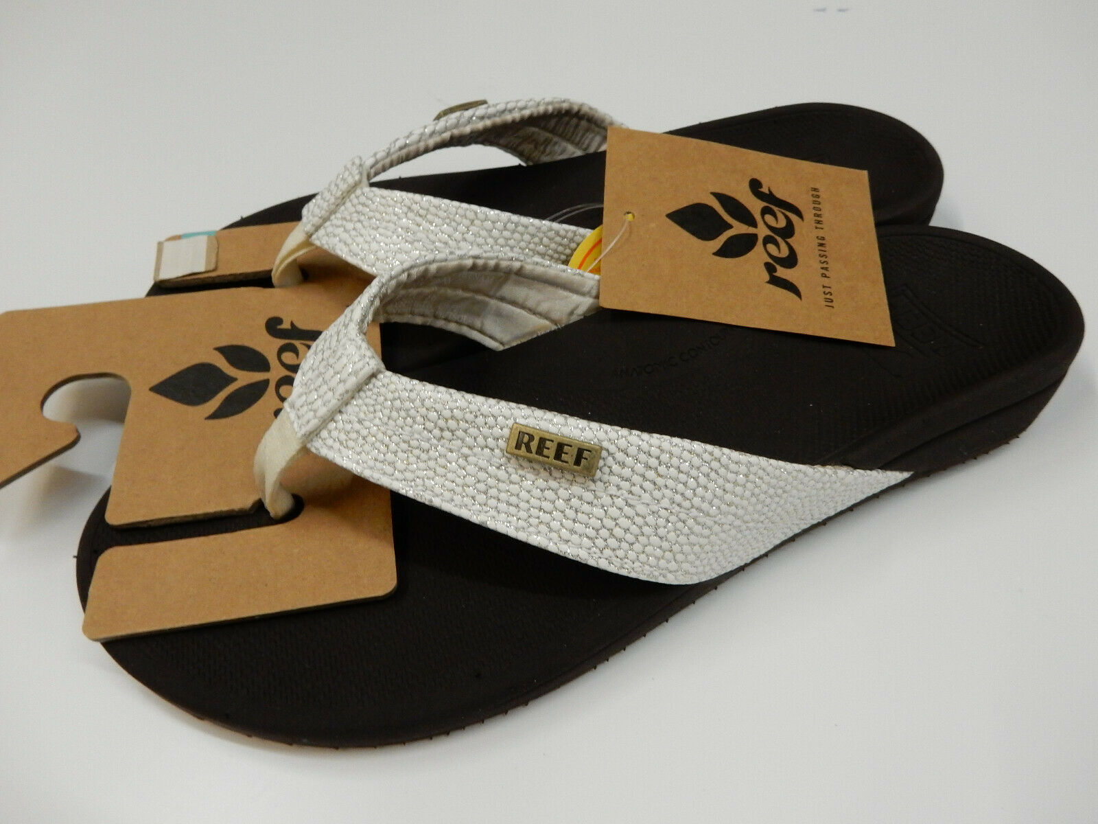 Reef Womens Ortho-Spring Brown White Size 6