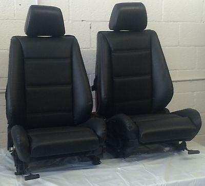 BMW e30 325i/318i Convertible Front Sport Seat Pair 1987-92 Black  $1250.00