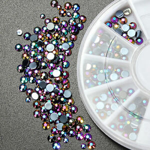 300-x-Nail-Art-Rhinestones-Acrylic-Studs-Craft-Gems-Crystal-Diamonte-Decoration